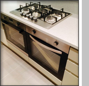 Gas range oven installed at Middleton Place, London W1